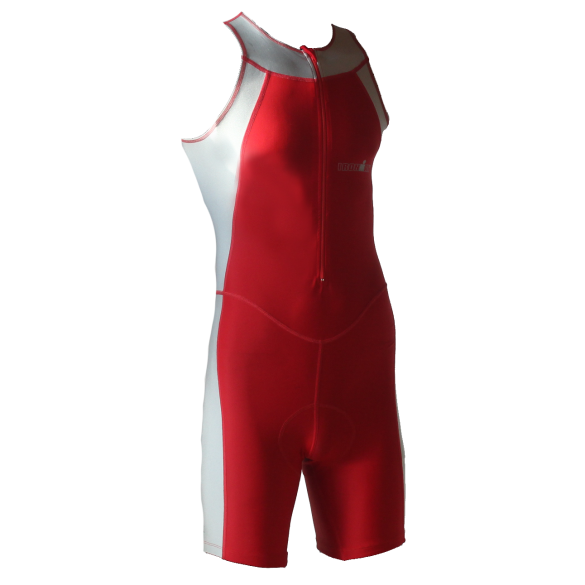 Ironman trisuit front zip sleeveless Skin suit red/silver men  IM1502-05/10