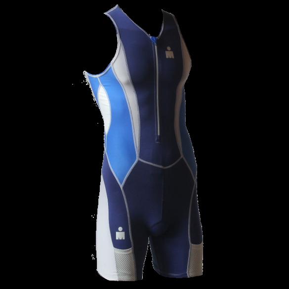 Ironman trisuit front zip sleeveless Speedflo blue men  IM39441-50