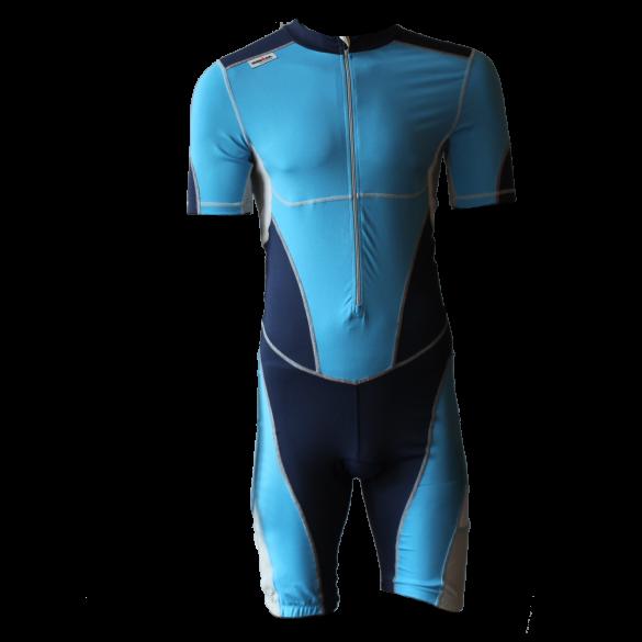 Ironman trisuit front zip short sleeve bodysuit blue men  IM8508-50/41