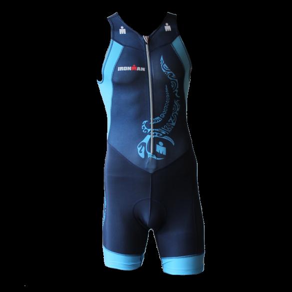 Ironman trisuit front zip sleeveless multisport tattoo blue men  IM8902-41/50