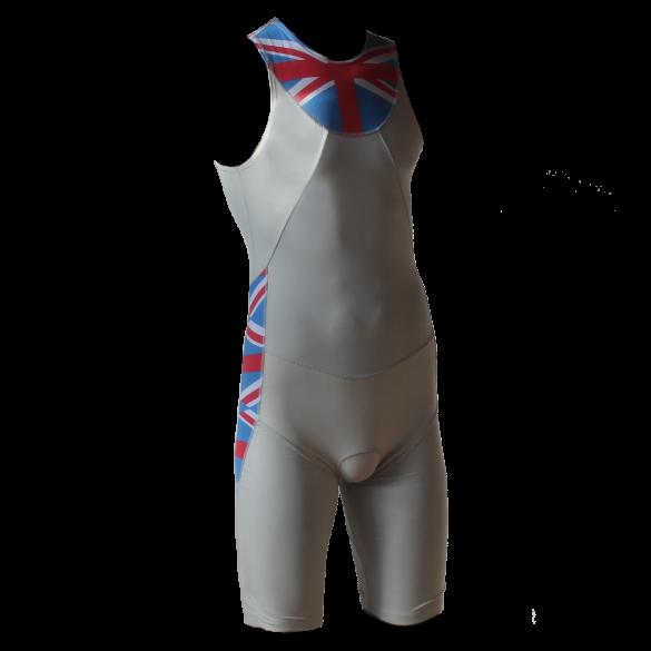 Ironman trisuit back zip sleeveless Aero white/ENG men  IMA500-03/ENG