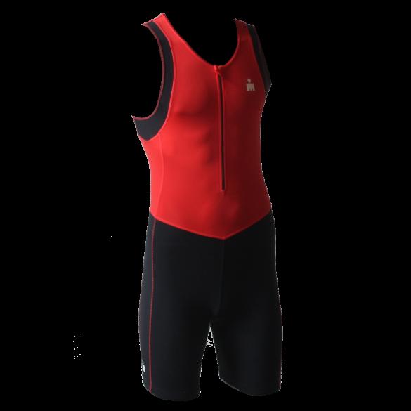 Ironman trisuit front zip sleeveless B9 red/black men  IMB950-05/15