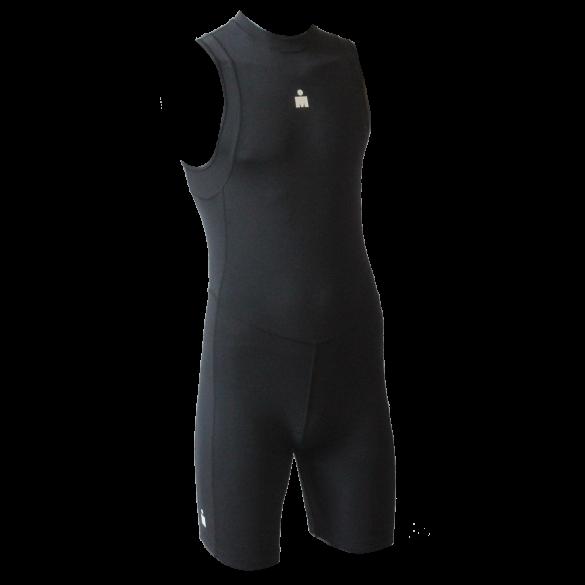 Ironman trisuit back zip sleeveless B9 black men  IMB951-15