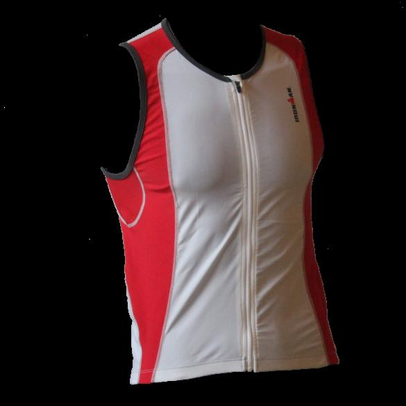 Ironman tri top front zip sleeveless 2P white/red men  IMT0203-03/05