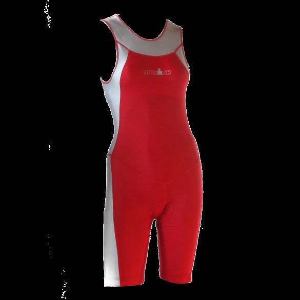 Ironman trisuit back zip sleeveless Skin suit red/silver women  IMW1517-05/10