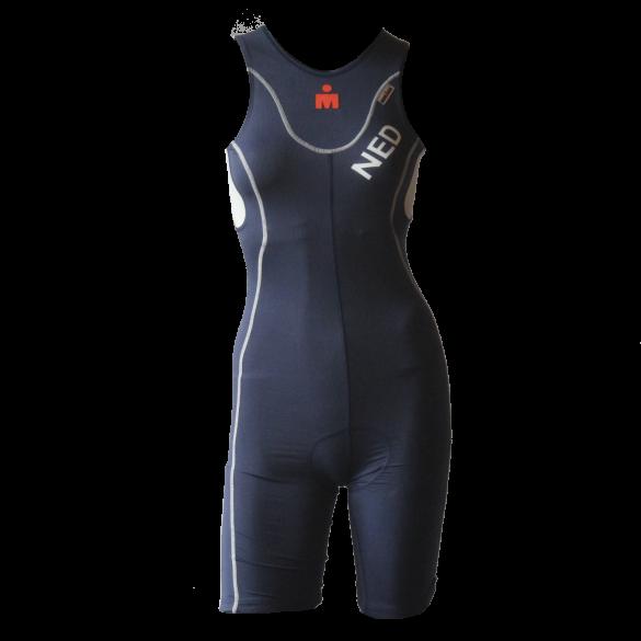 Ironman trisuit back zip sleeveless extreme bodysuit blue/NED women  IMW4517-41/NED