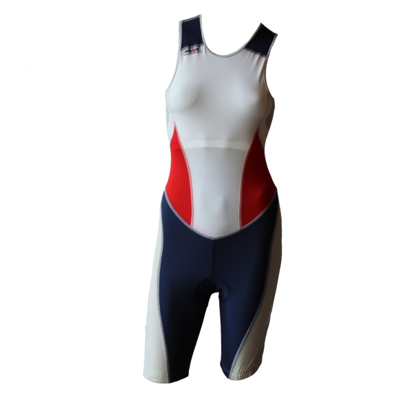 Ironman trisuit back zip sleeveless extreme suit white/blue/red women  IMW7517-03/05/41