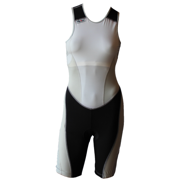 Ironman trisuit back zip sleeveless extreme suit white/grey women  IMW7517-03/10