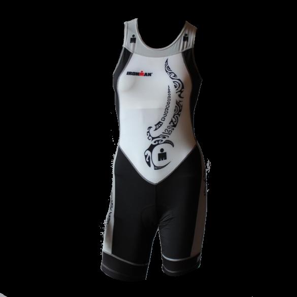 Ironman trisuit back zip sleeveless multisport tattoo white/black/silver women  IMW8917-03/10