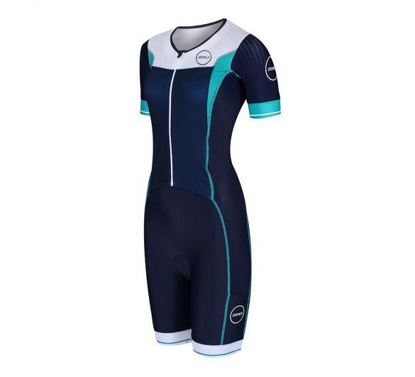 Zone3 Lava long distance FZ short sleeve trisuit women  TS18WLFZ102