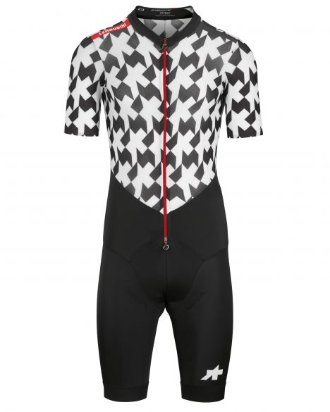Assos LeHoudini RS Aero RoadSuit black/white men  111118099