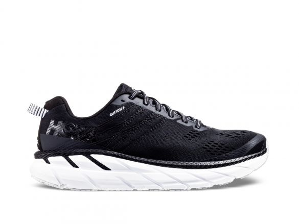 One Clifton 6 wide running shoes black