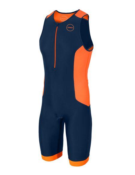 Zone3 Aquaflo plus sleeveless trisuit blue/orange men  TS18MAQP113