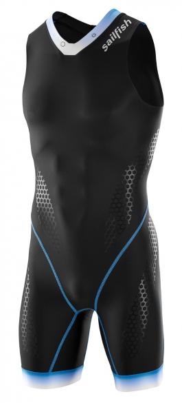Sailfish Pro Team trisuit backzip black/blue men    STPROZB