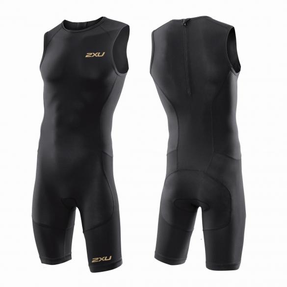 2XU GHST Tri suit black/gold men   MT3272d