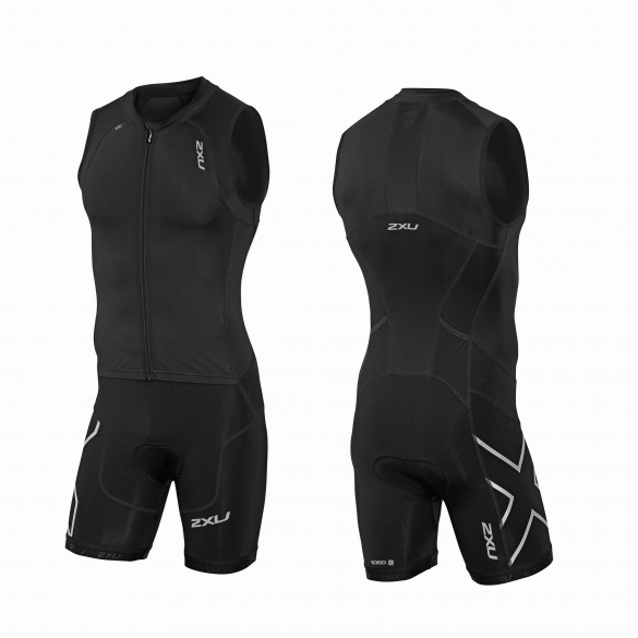 2XU Compression Full Zip trisuit black men   MT3614d