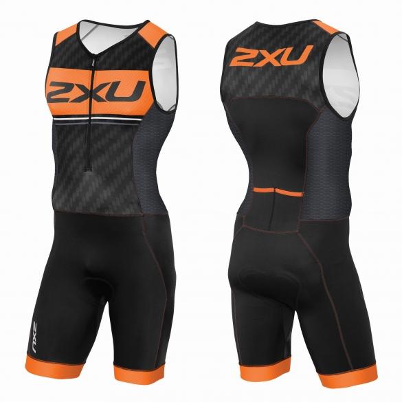 2XU Perform Pro trisuit black/orange men  MT3622d