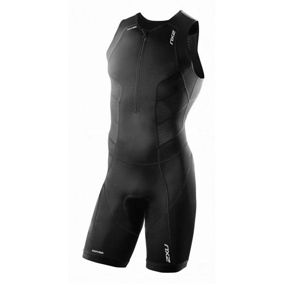 2XU Perform Front Zip trisuit black men  MT3858d-VRR
