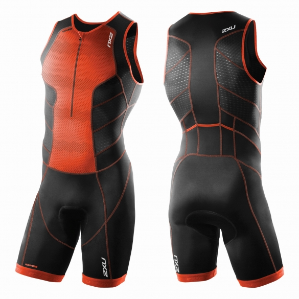 2XU Perform Front Zip trisuit orange/black men    MT3858d