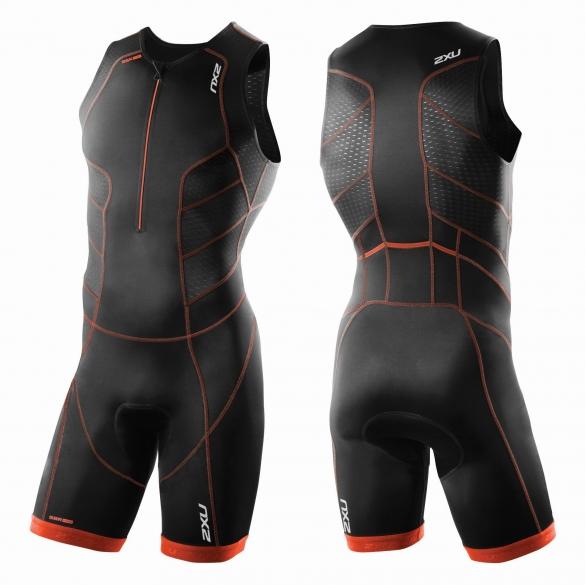 2XU Perform Front Zip trisuit black/red men   MT3858d