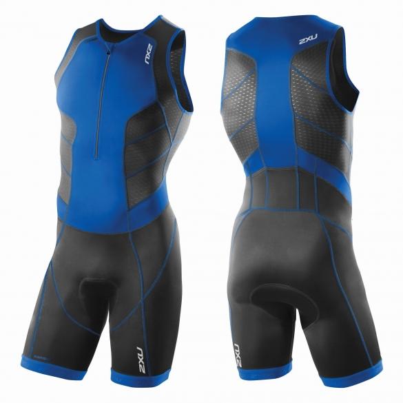 2XU Perform Front Zip trisuit black/blue men    MT3858d