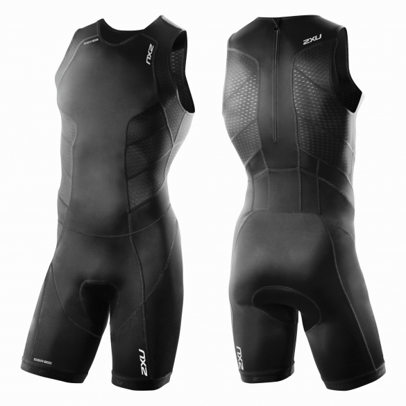2XU Perform Rear Zip trisuit black men       MT3860d