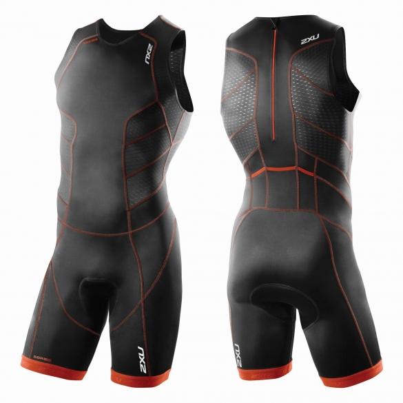 2XU Perform Rear Zip trisuit black/red men        MT3860d