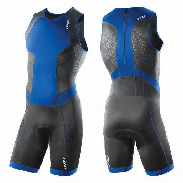 2XU Perform Rear Zip trisuit black/blue men         MT3860d