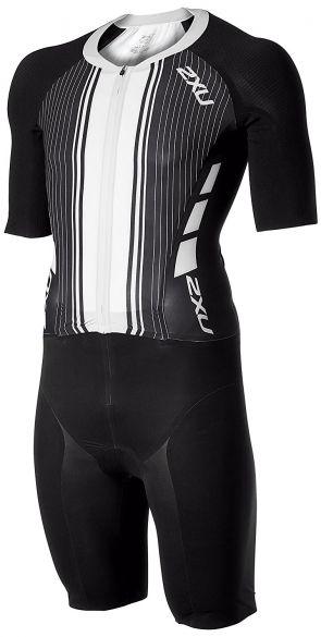 2XU Project X short sleeve trisuit black/white men  MT4834d-BLK/WTG