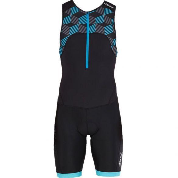 2XU Active sleeveless trisuit black/blue men  MT4862d-BLK/RDB-VRR