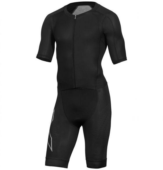 2XU Compression short sleeve trisuit black men  MT5516d-BLK/BLK