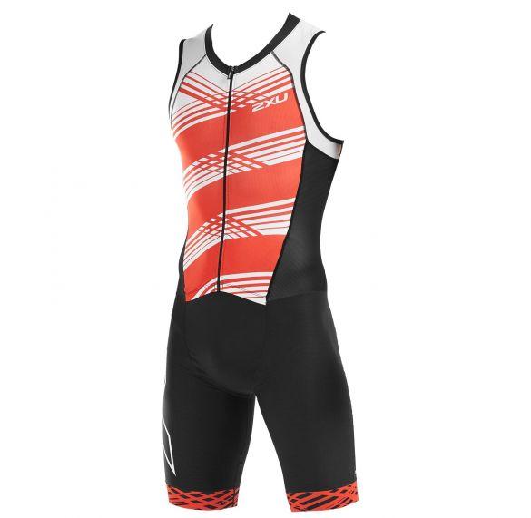 2XU Compression sleeveless trisuit black/red men  MT5517D-BLK/WFL