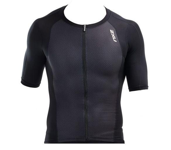 2XU Compression Short sleeve tri top black men  MT5518a-BLK/BLK