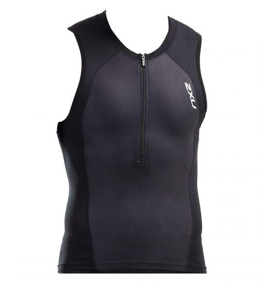 2XU Compression sleeveless tri top black men  MT5519a-BLK/BLK