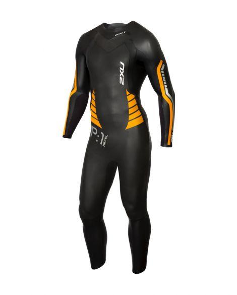 2XU P:1 Propel full sleeve wetsuit black/orange men  MW4991c-BLK/FLO