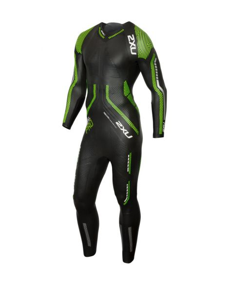2XU Propel pro full sleeve wetsuit black/green men  MW5124c-BLK/NGG-VRR