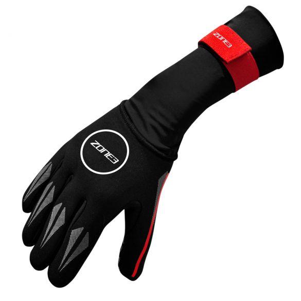 Zone3 Neoprene Swim gloves black/red  NA18UNSG108