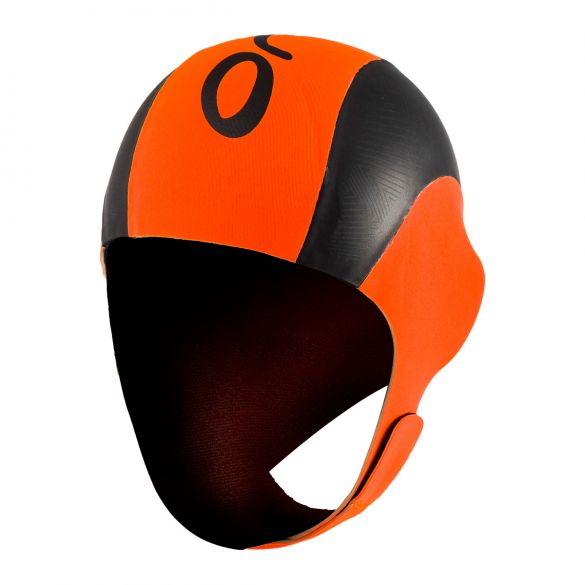 Orca Neopreen swim cap black/orange  LA42