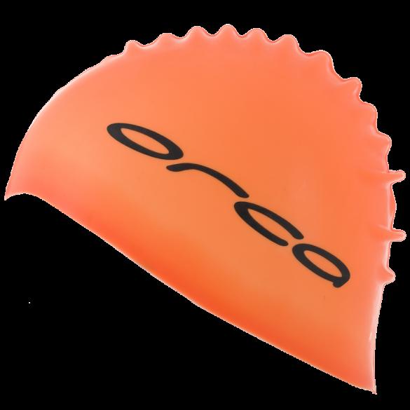 Orca Silicone swim cap orange  DVA054