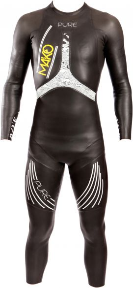 Mako Pure full sleeve wetsuit black/white men  161001
