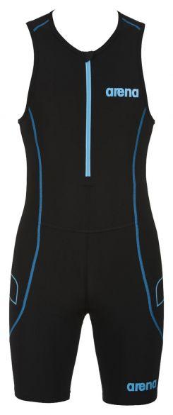 Arena ST front zip sleeveless trisuit black men  AR1A918-55