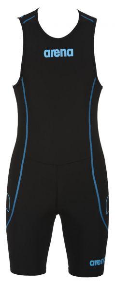 Arena ST rear zip sleeveless trisuit black men  AR1A919-55