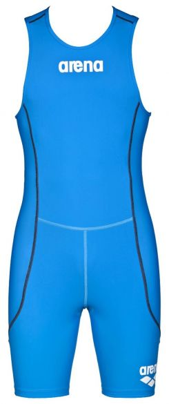Arena ST rear zip sleeveless trisuit blue men  AR1A919-88