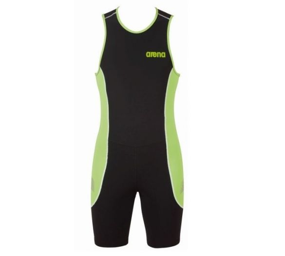 Arena ST rear zip sleeveless trisuit black/green men  AR1A919-55