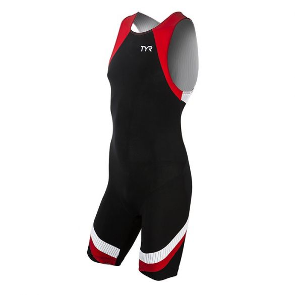 TYR Carbon backzip trisuit black/red men  TMZNJB6A-002