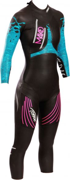 Mako Torrent full sleeve wetsuit black/blue women  152001