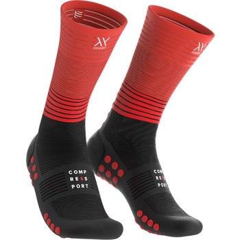 Compressport Mid Compression socks Oxygen black/red  MDS-R-99RD