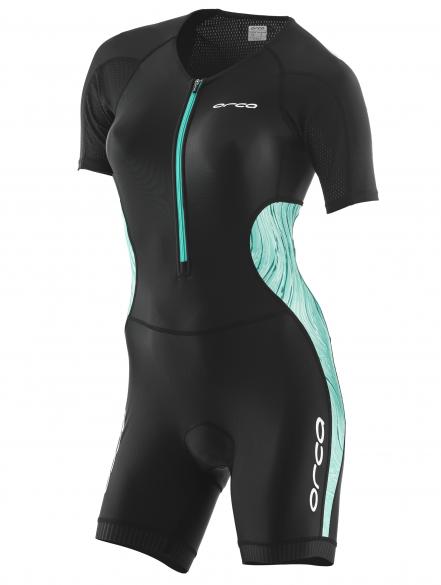 Orca Core race short sleeve trisuit black/green women  JVCE20