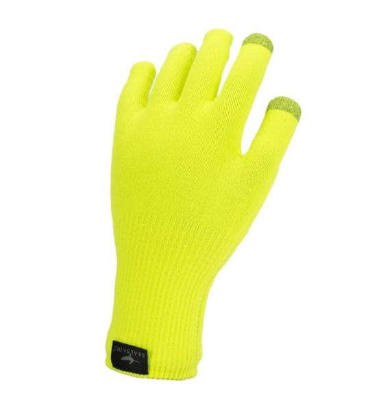 SealSkinz Ultra grip knitted cycling gloves neon yellow  12100082-0007