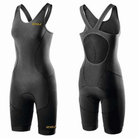 2XU GHST Tri suit black/gold women  WT3606d